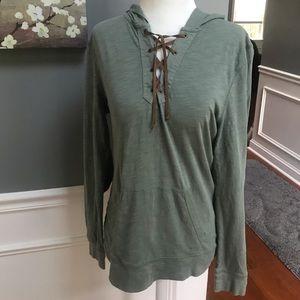 Ralph Lauren | green hooded long sleeve top
